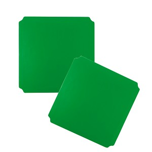 Moveandstic set of 2, plate 40 x 40 cm, green