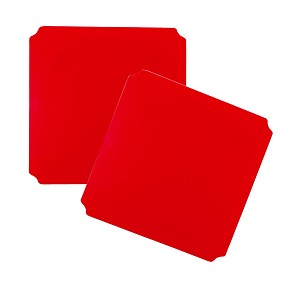 Moveandstic set of 2, plate 40 x 40 cm, red