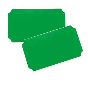 Moveandstic set of 2, plate 20 x 40 cm, green
