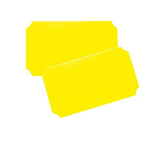 Moveandstic set of 2, plate 20 x 40 cm, yellow