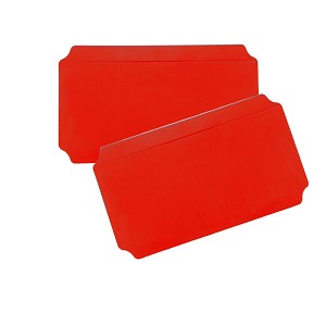 Moveandstic set of 2, plate 20 x 40 cm, red
