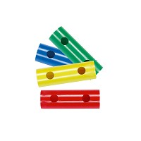 Moveandstic set of 4 tube 15 cm, green, blue, yellow, red