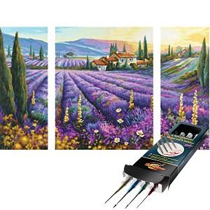 Malen nach Zahlen Lavendelfelder inkl. Pinselset SET