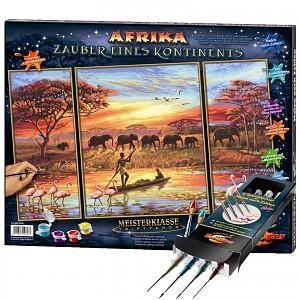 Malen nach Zahlen Afrika-Zauber eines Kontinents inkl. Pinselset SET