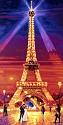 Malen nach Zahlen - Der Eifelturm bei Nacht 40 x 80 cm