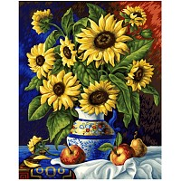 Painting By Numbers - Still Life with Sunflowers 40x50