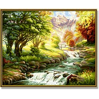 Painting By Numbers - By the Trout Brook 40x50