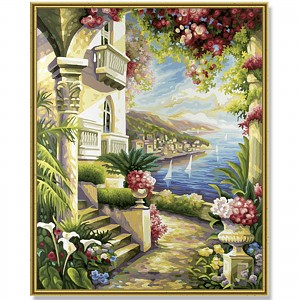 Painting By Numbers - Palazzo with View of the Sea 40x50