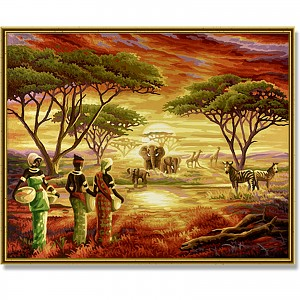 Painting By Numbers - Picturesque Africa 40x50