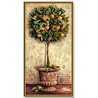 Painting By Numbers - Citrus aurantium 40x80