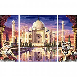 Painting by Numbers - Taj Mahal Triptych 50x80