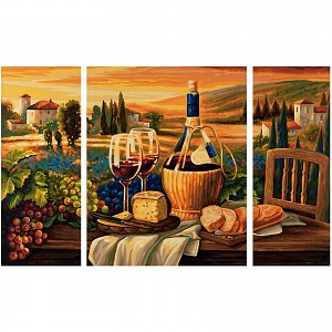 Painting by Numbers - SCHIPPER - Dolce Vita, Triptych 50x80