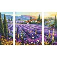 Malen nach Zahlen - SCHIPPER - Lavendelfelder Triptychon 50x80cm NEUHEIT 2011