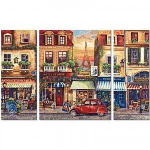 Paint by numbers Paris Nostalgie Tryptichon