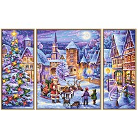 Paint by number 609260730 White Christmas Triptychon 2016