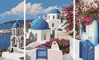 Paint by number Santorin 40x80