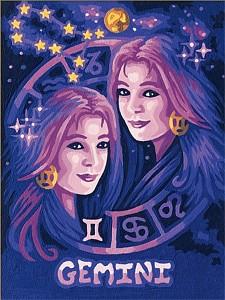 Malen nach Zahlen Sternzeichen / Tierkreiszeichen Zwillinge 18x24