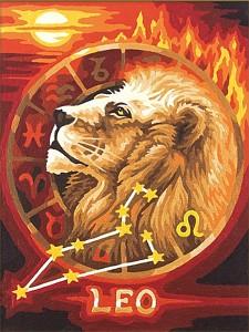 Malen nach Zahlen Sternzeichen / Tierkreiszeichen Löwe 18x24
