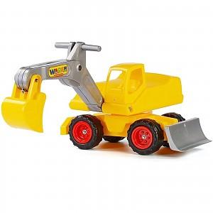 Sitzbagger Megabagger Bagger Fahrzeug Spielzeug bis 80kg, gelb
