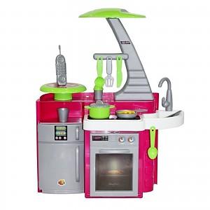 WADER Küche Spielküche ~Laura~ Backofen Herd Kochplatte Töpfe Pfanne Spielzeug