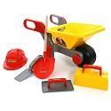 Bauschubkarre 6.tlg. Kinder Schubkarre Zubehör Sandkasten Spielzeug WADER 38029