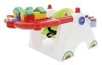 Coloma Baby-Spieltisch mit Bausteinen 17-tlg.