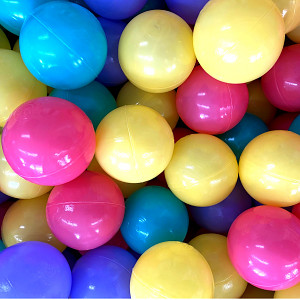 500 balls ø7cm - colored