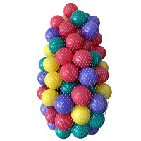 100 game balls ø7cm in the net - colorful