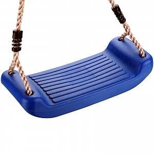Swing seat made of plastic, blue