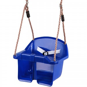Baby Swing Seat with Rope and Fastening Rings, blue
