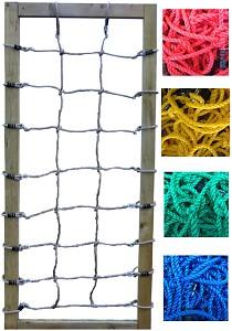 Kletternetz H: 2,50 x B: 1,00 m,  rot, blau, gelb, grün oder schwarz