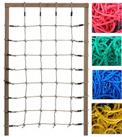Climbing net H: 2.00 x W: 1.25 m, red, green or black