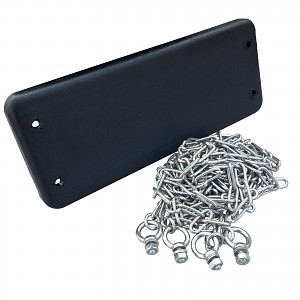 Rubber Swing Seat with 4 m Stainless Steel Chain
