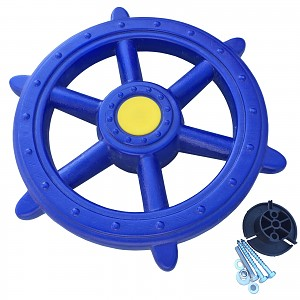 Steering wheel ship - pirate steering wheel Ø 48 cm blue