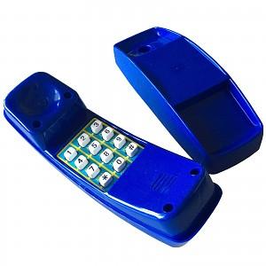 Blue plastic children's phone