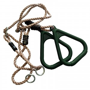 Triangular Gymnastic Rings with Rope, green