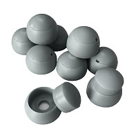 Set of 10 cover caps 8-10mm gray