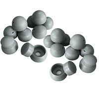 Set of 20 cover caps 8-10mm gray