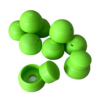 Set of 10 cover caps 8-10mm apple green