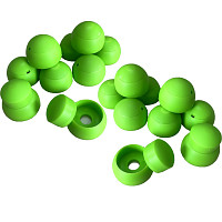 Set of 20 cover caps 8-10mm apple green