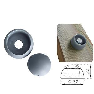 Cover cap 8 / 10mm gray plastic 1 piece