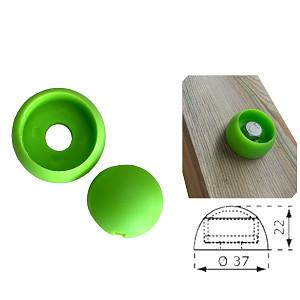 Cover cap 8 / 10mm apple green plastic 1 piece