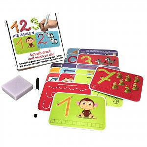 Numbers educational game wipe-and-away learning set for school enrollment kids gift learning