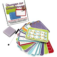 Educational game Lines wipe-and-away learning set for school children gift