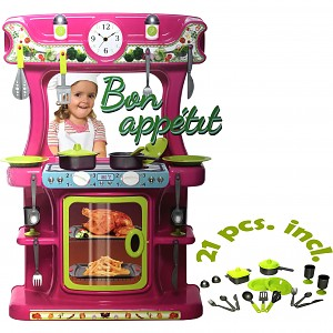 Children's kitchen Play kitchen made of sturdy plastic with accessories