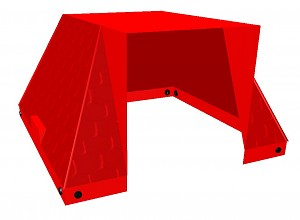 Moveandstic Toy Roof, red