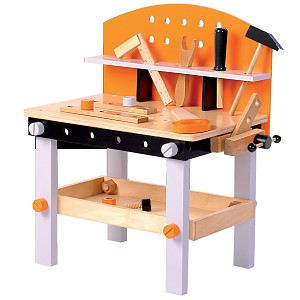 Children's wooden workbench with tools Wooden workbench Children's workbench toys