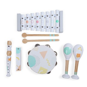 5-piece musical instrument set - white / colored