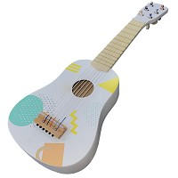 guitar consisting of wood - white/ colorful