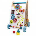 Wooden baby walker baby walker walk-free baby walker plug-in game